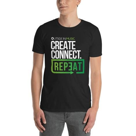 Create Connect Repeat Official T-Shirt! (Black)