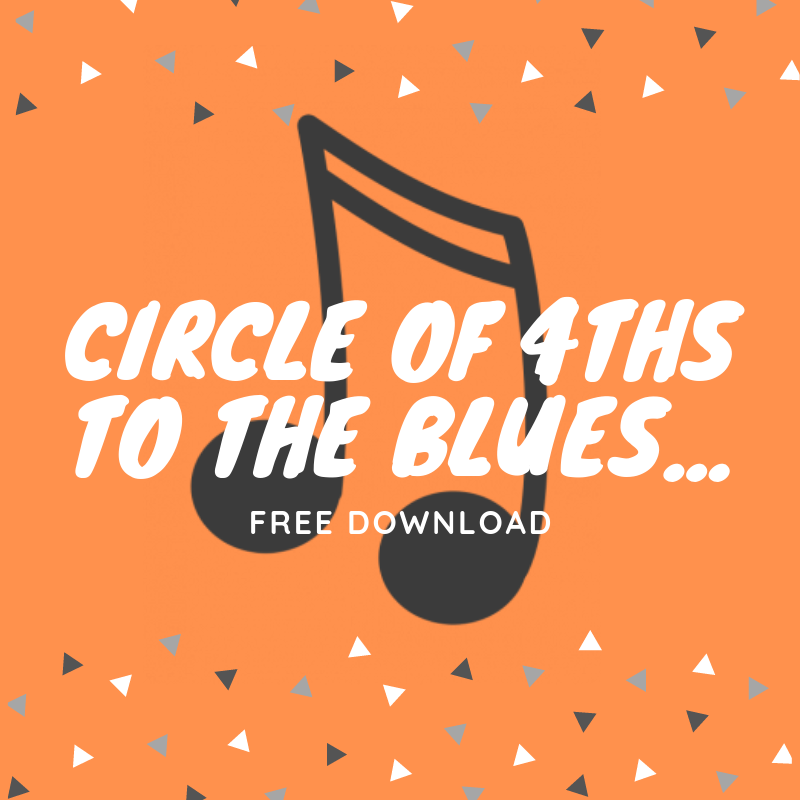 Circle of 4th 7th Chords and The Blues