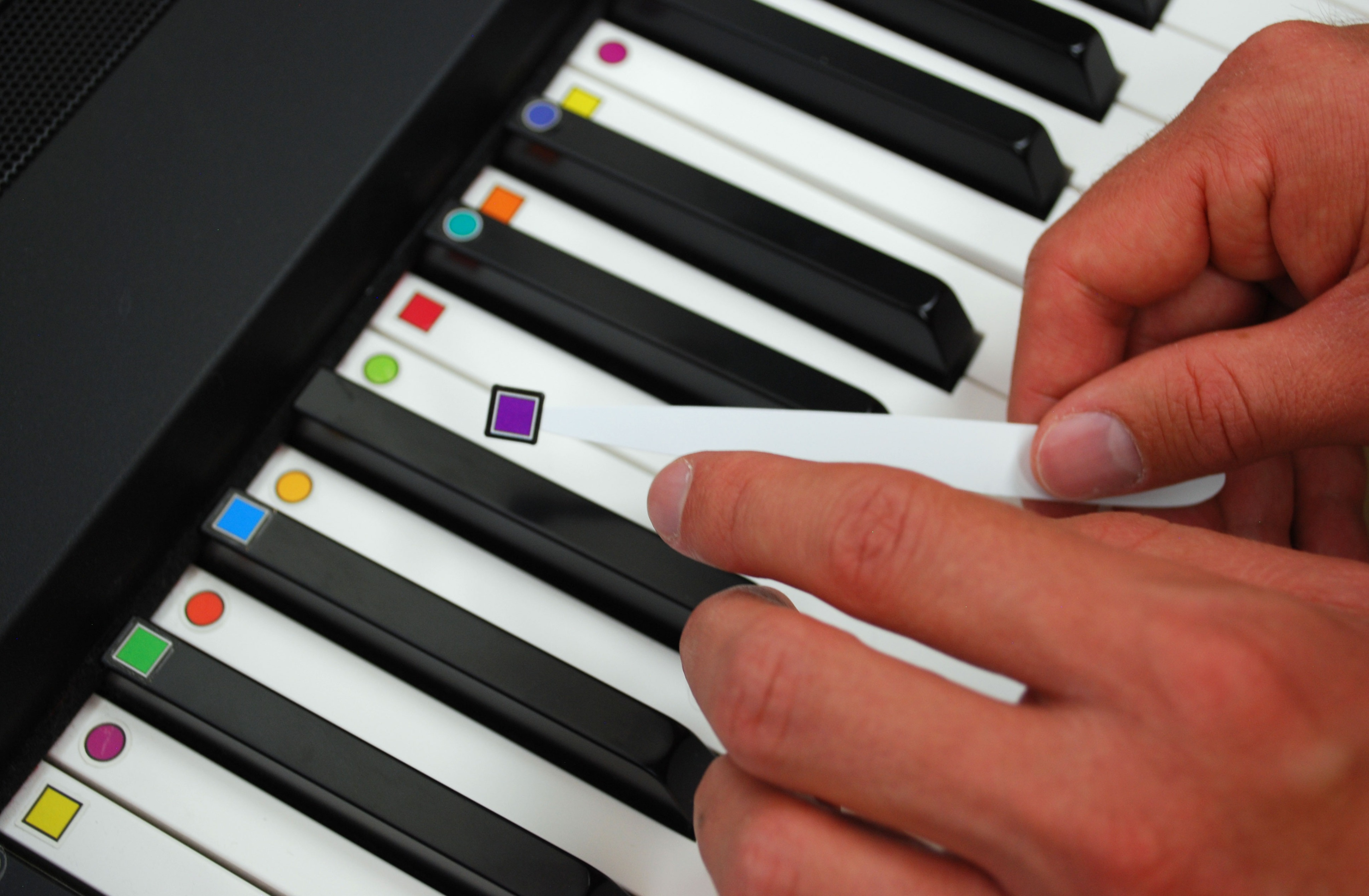 ColorMusic PIANO Keyboard Labels