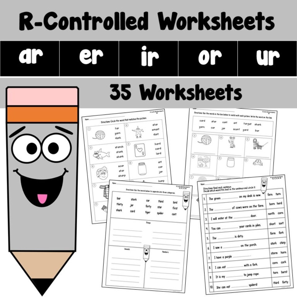 R Controlled Worksheets AR ER IR OR UR