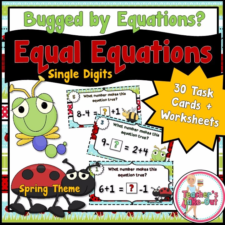 Spring Equal Equations using Simple Add and Subtract
