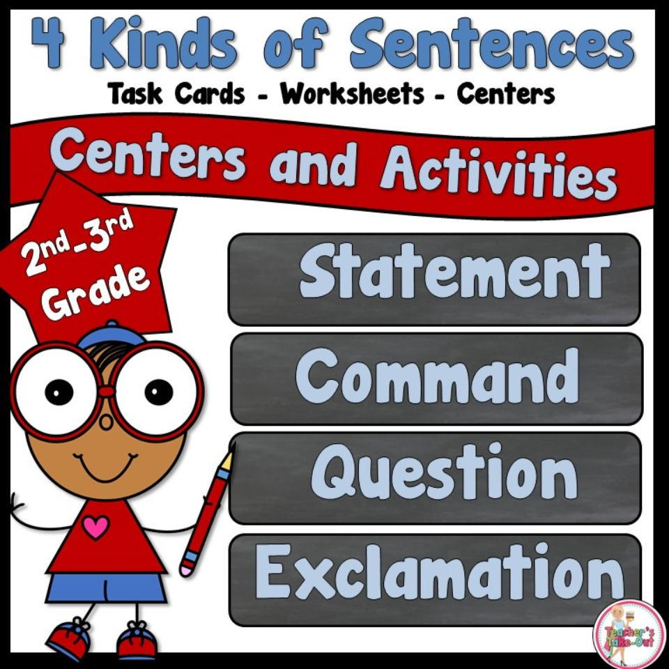4 Kinds of Sentence (statement-question-command-exclamation)