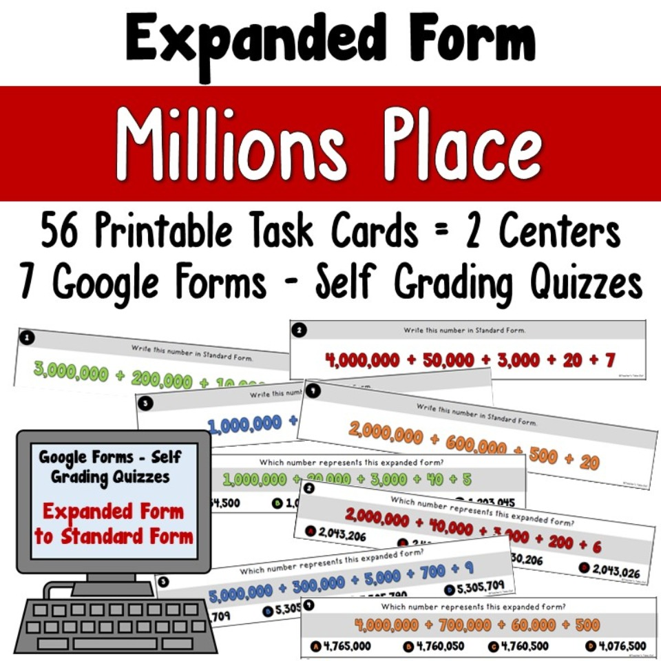 Expanded Form to the Millions Place