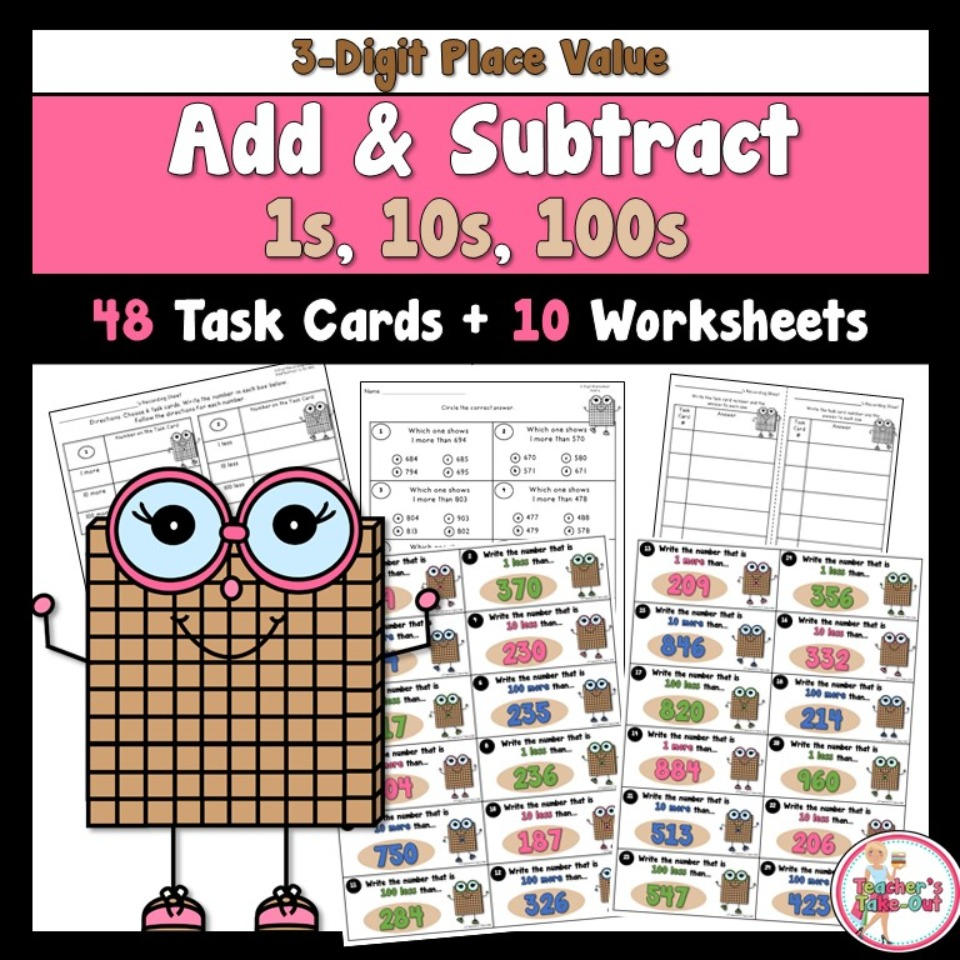 Add and Subtract 3-Digit Numbers by 1s 10s 100s