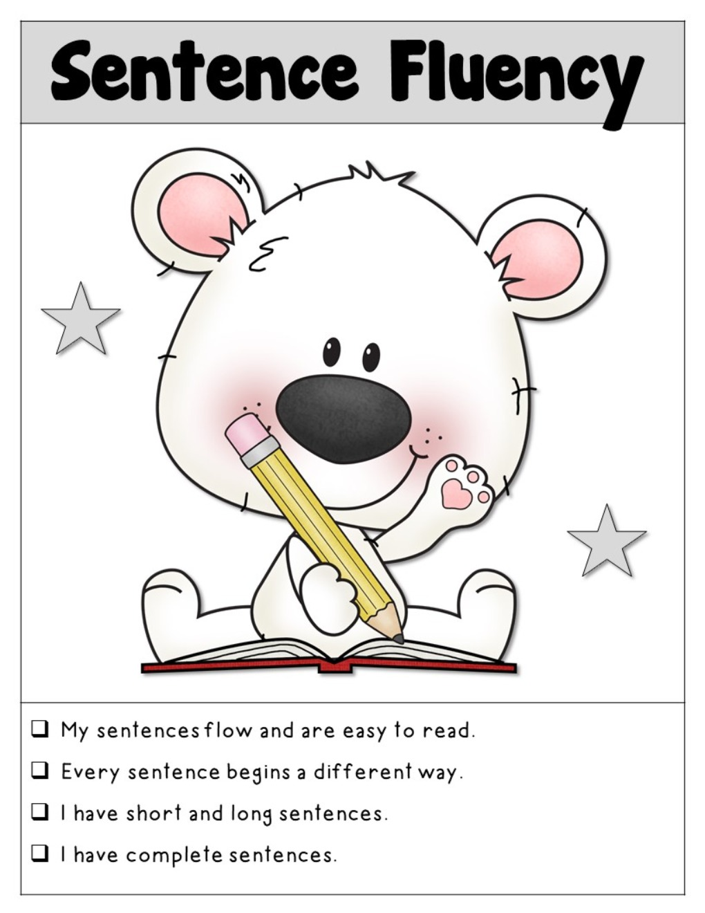 6-Traits Writing Posters and Checklist