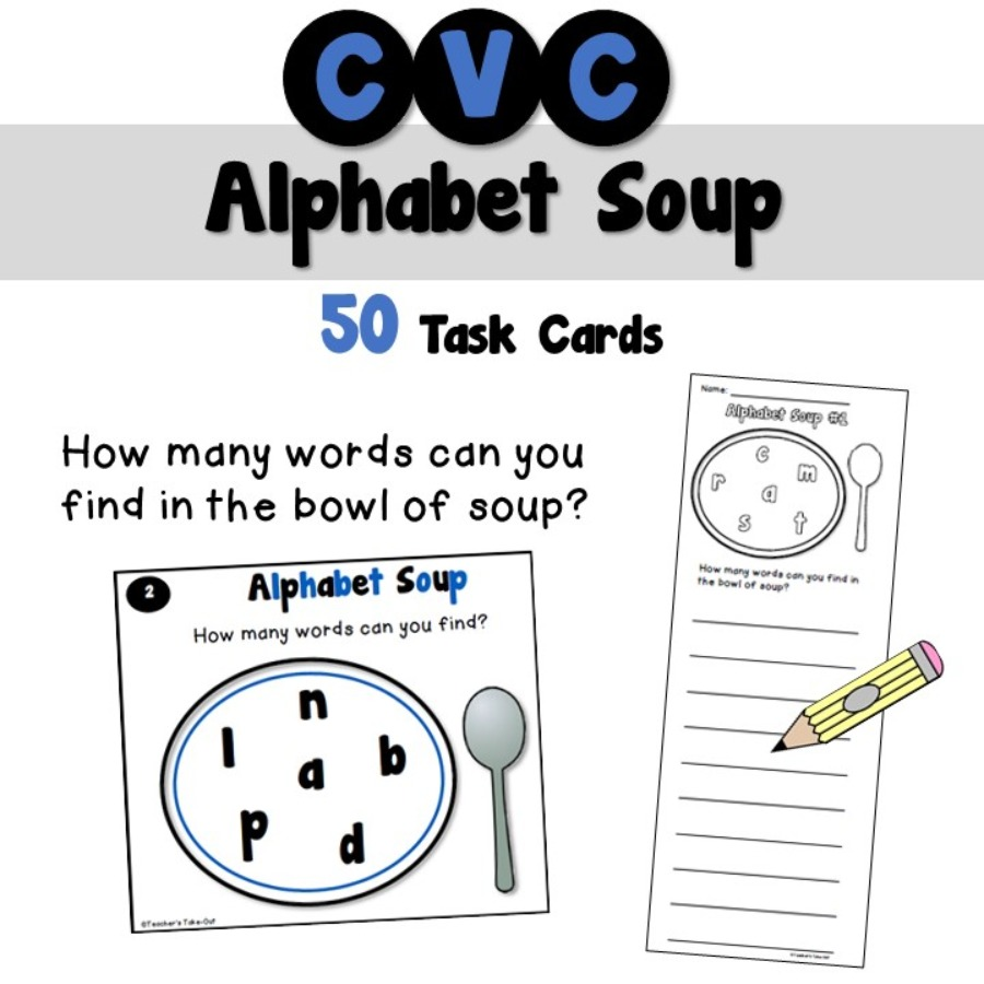 Alphabet Soup using CVC Words