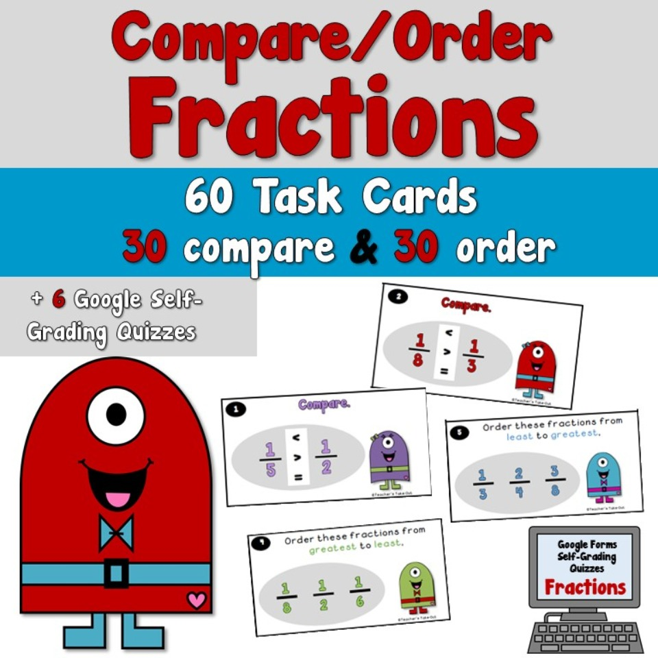 Compare and Order Fraction Task Cards