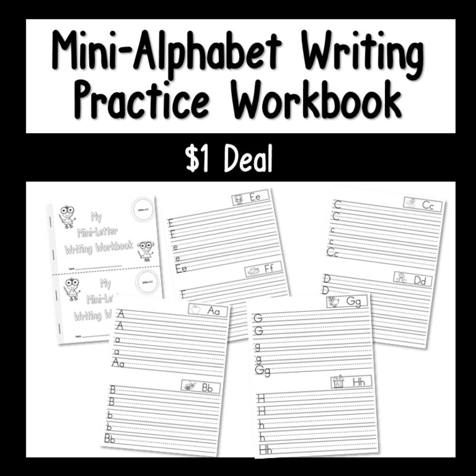 Mini Alphabet Writing Practice Workbook Dollar Deal
