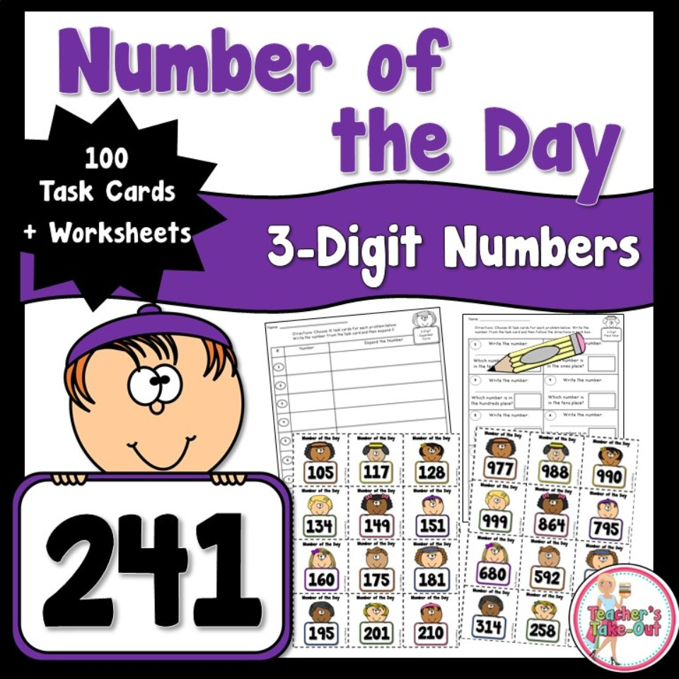 Number of the Day Using 3 Digit Numbers