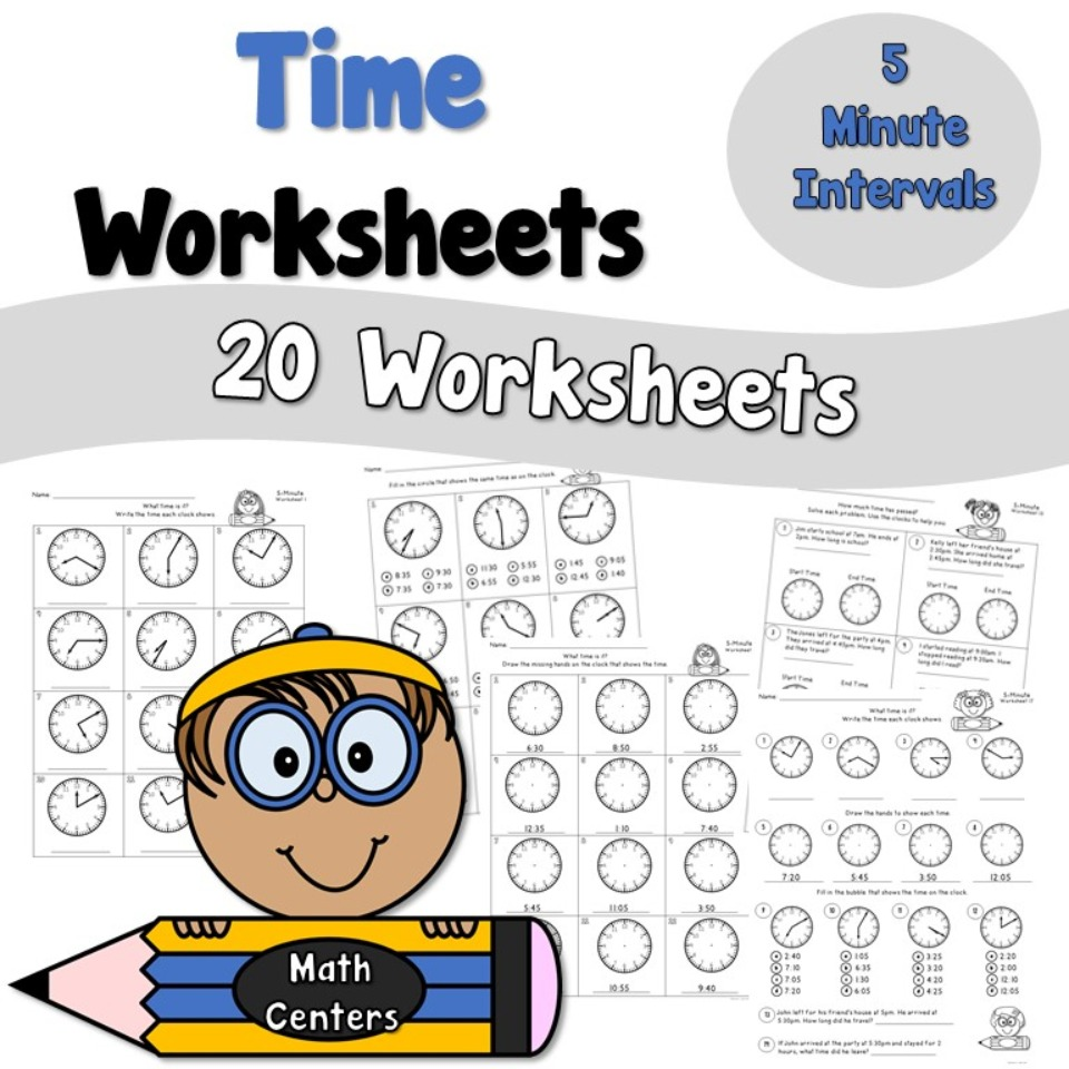 Time Worksheets to the Nearest 5 Minutes