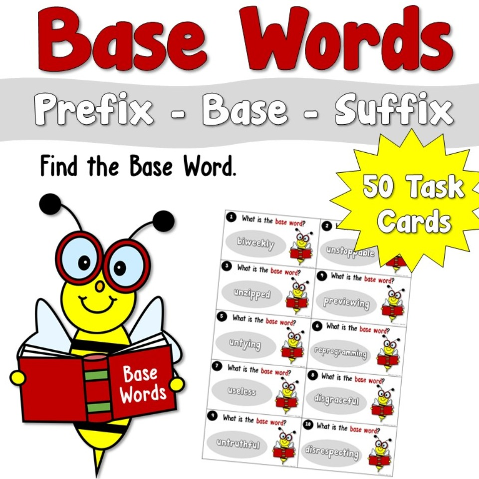 Base Words Task Cards