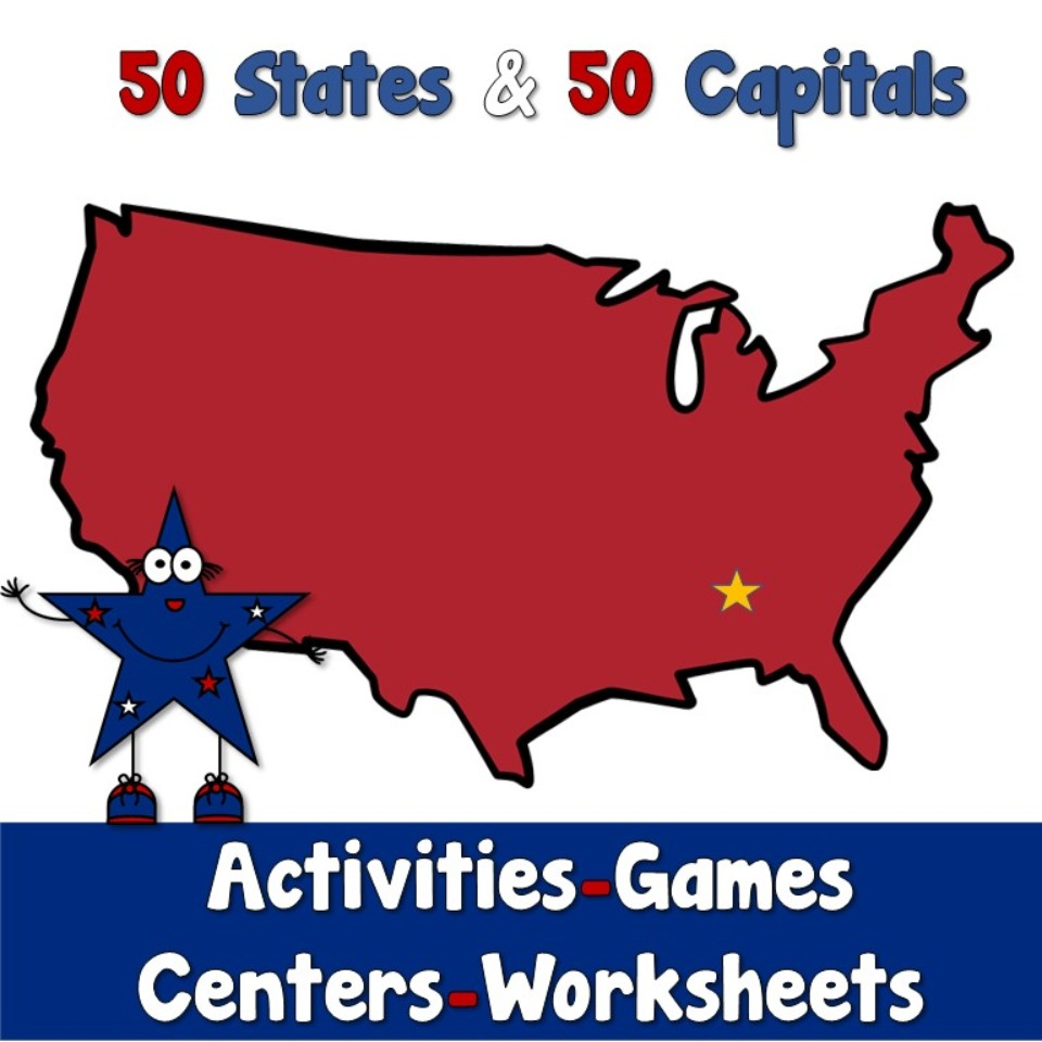 50 States and Capitals of the USA