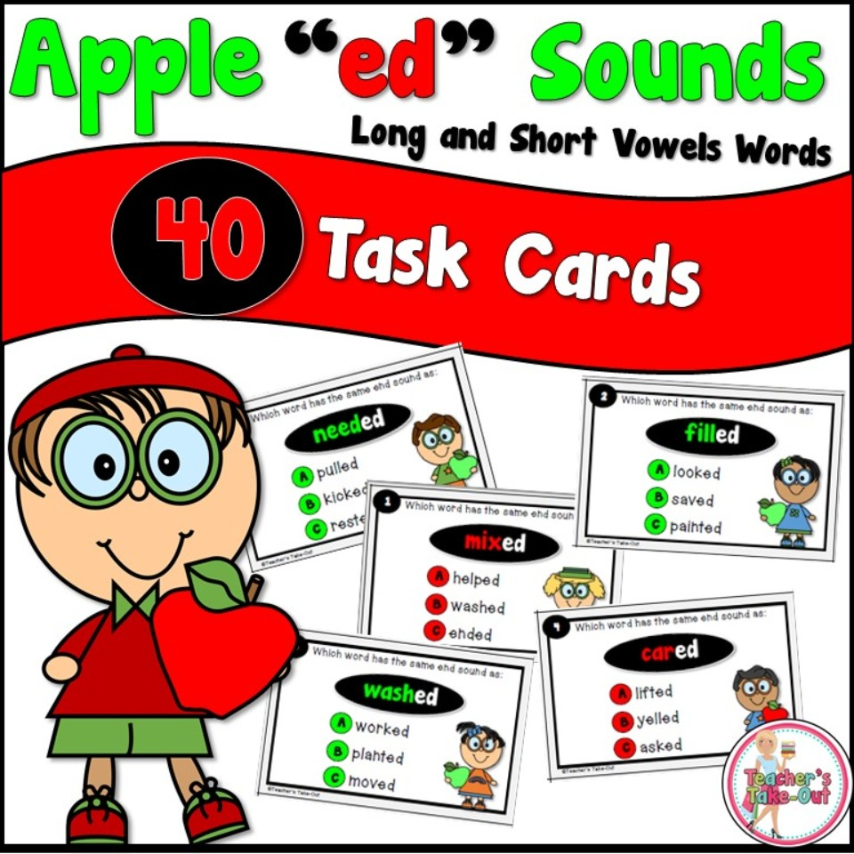 Apple ed Sounds Task Cards