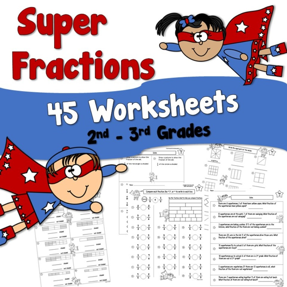 Super Fraction Worksheets