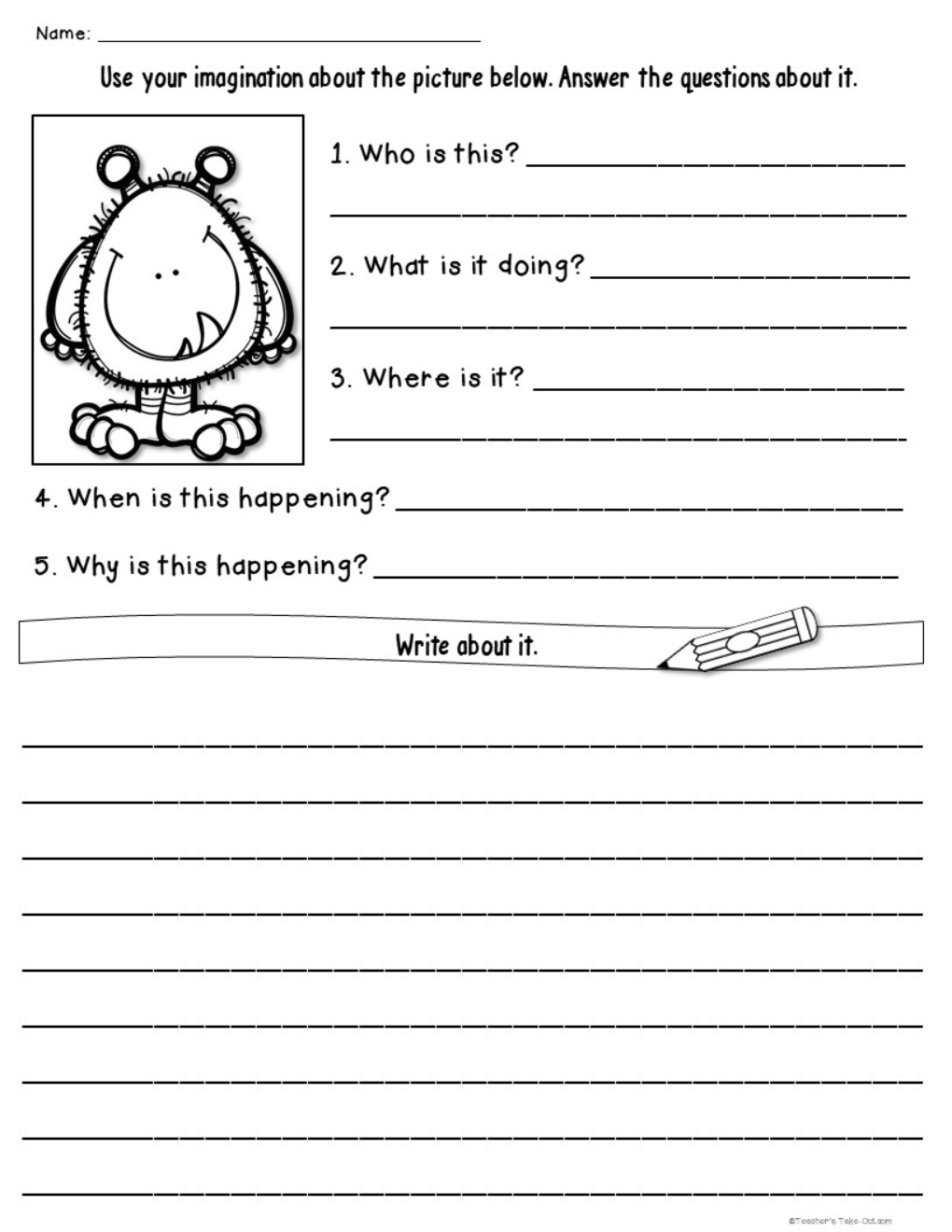 Write About It using Who What When Where and Why