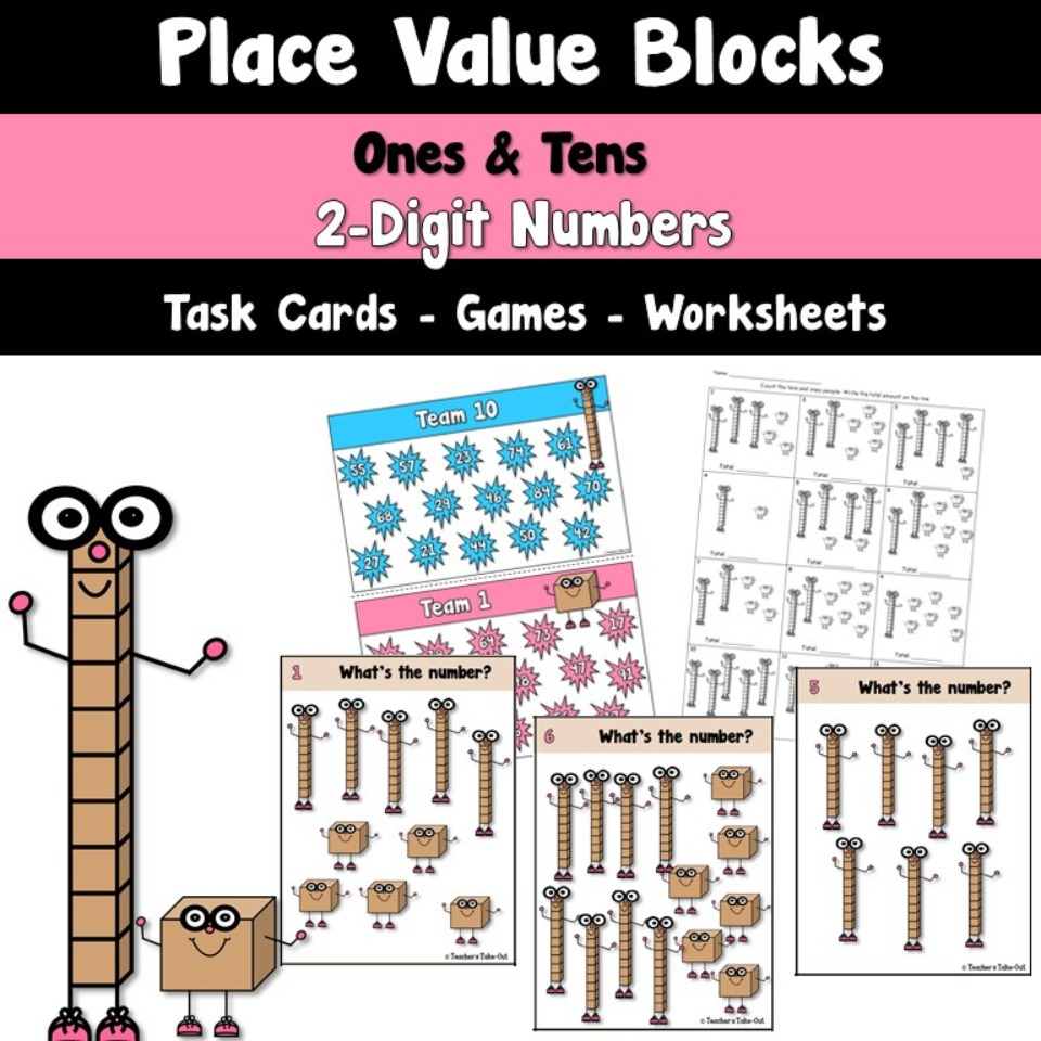 Place Value Blocks to the Tens Place