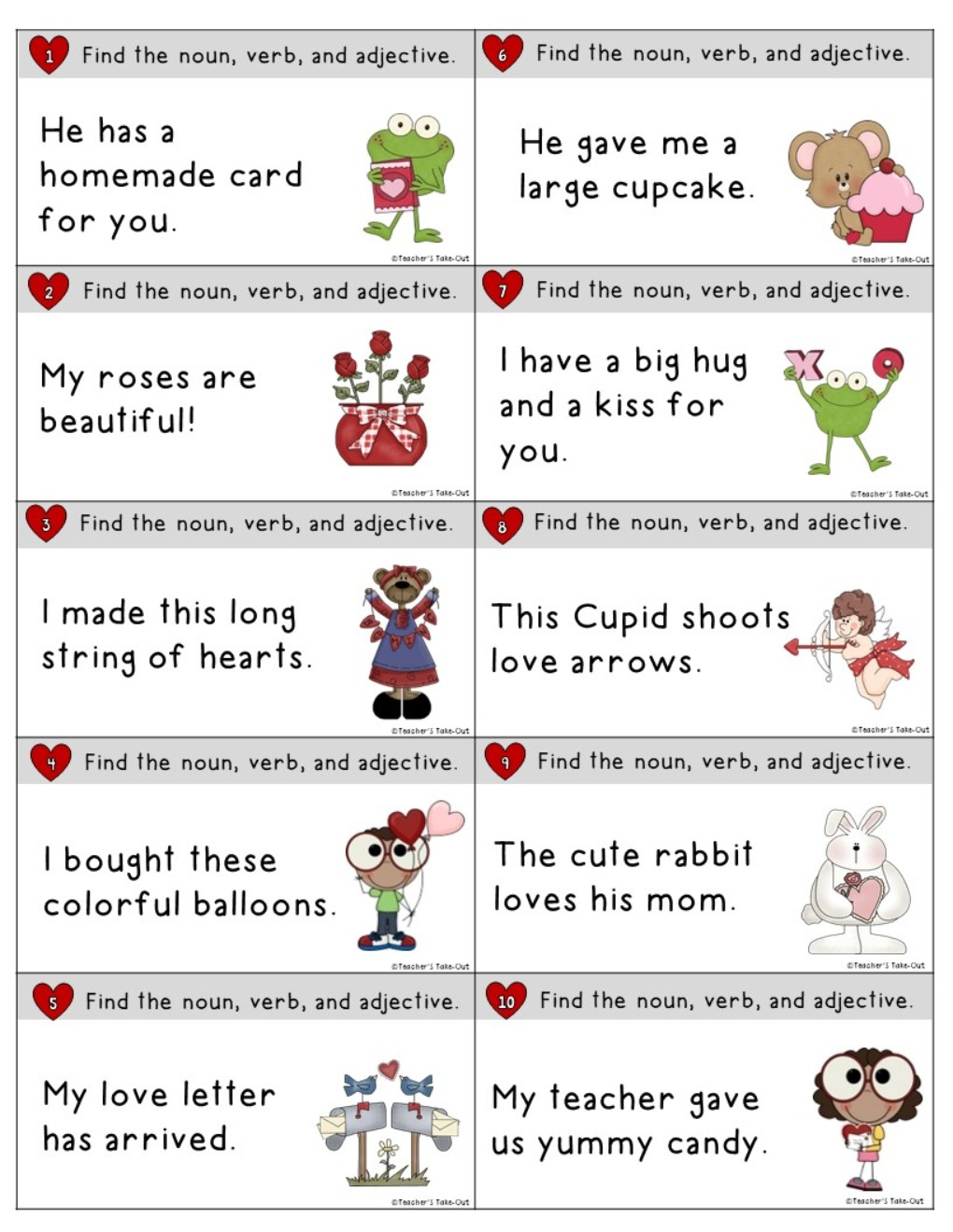 Valentine Reading and Writing Centers