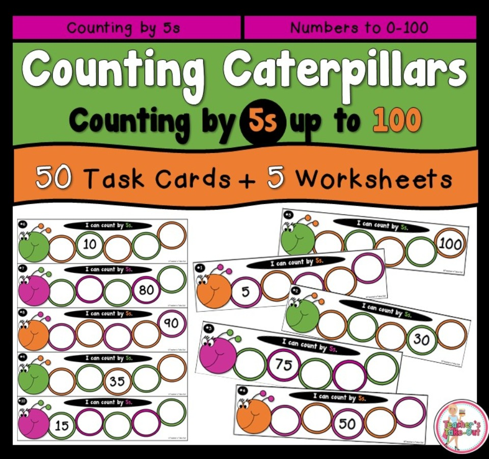 Counting Caterpillars by 5s up to 100