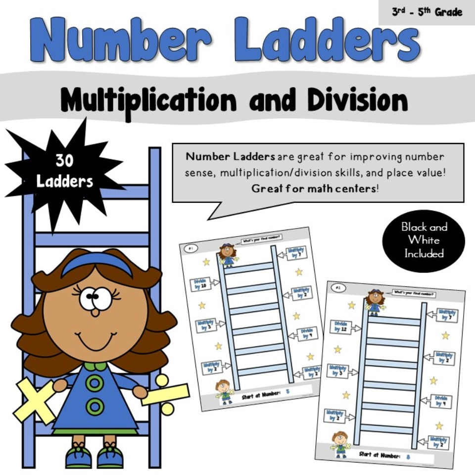 Number Ladders - Multiplication/Division