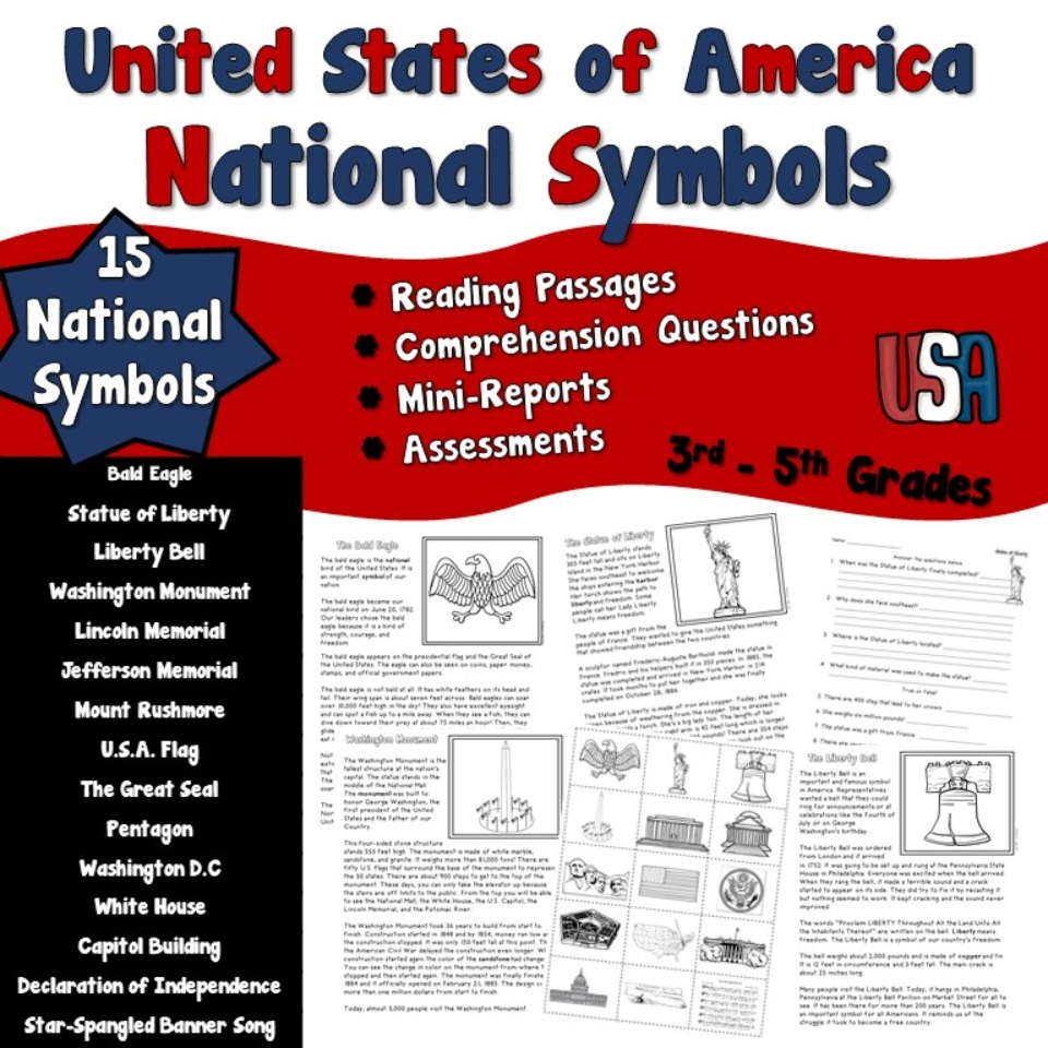 National Symbols of United States Nonfiction Passages