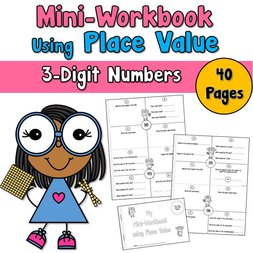 Mini Workbook Using Place Value with 3-Digit Numbers