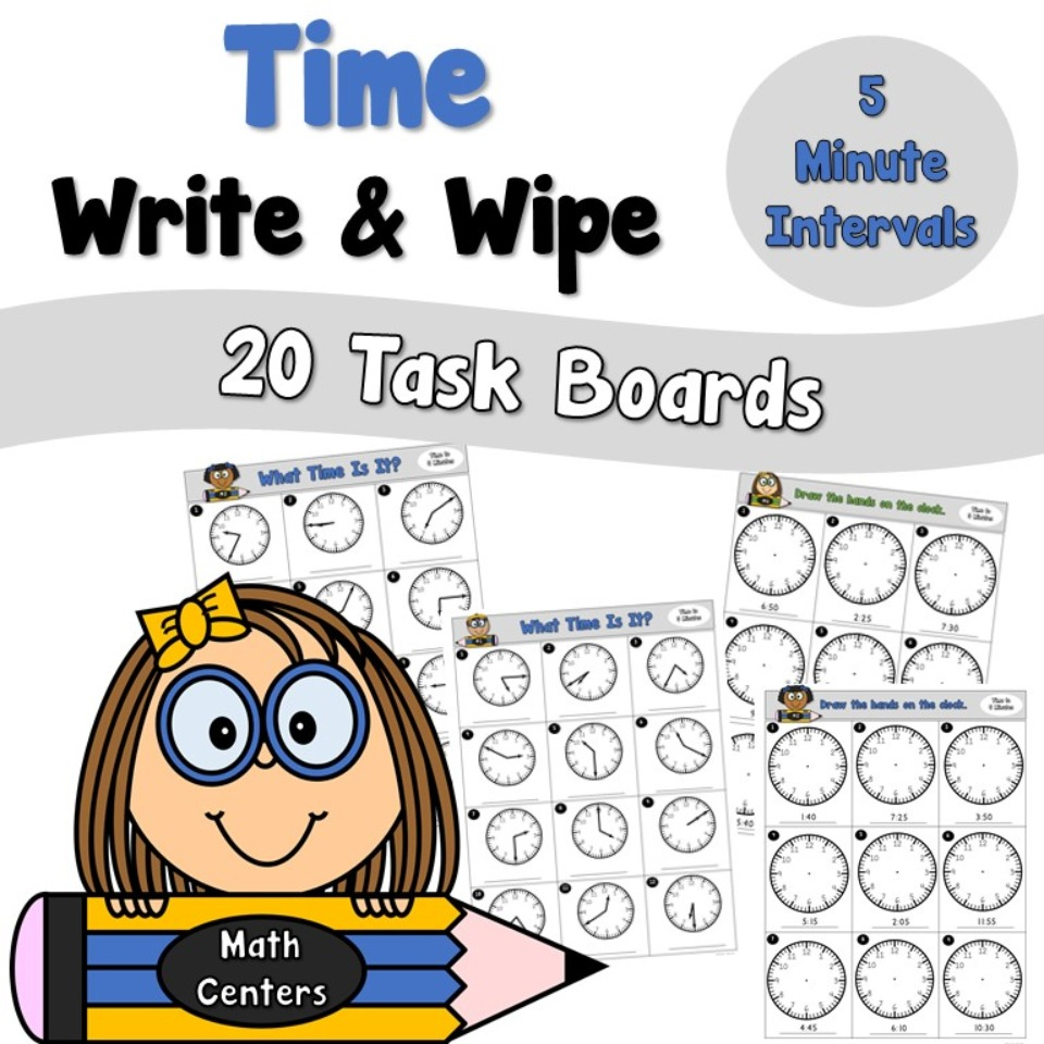Time Write and Wipe Task Boards to the Nearest 5 Minutes