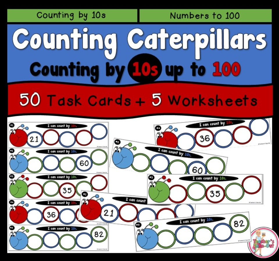 Counting Caterpillars by 10s up to 100