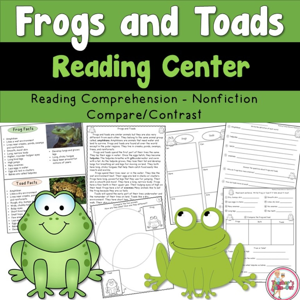 Frogs and Toads Nonfiction Reading Center