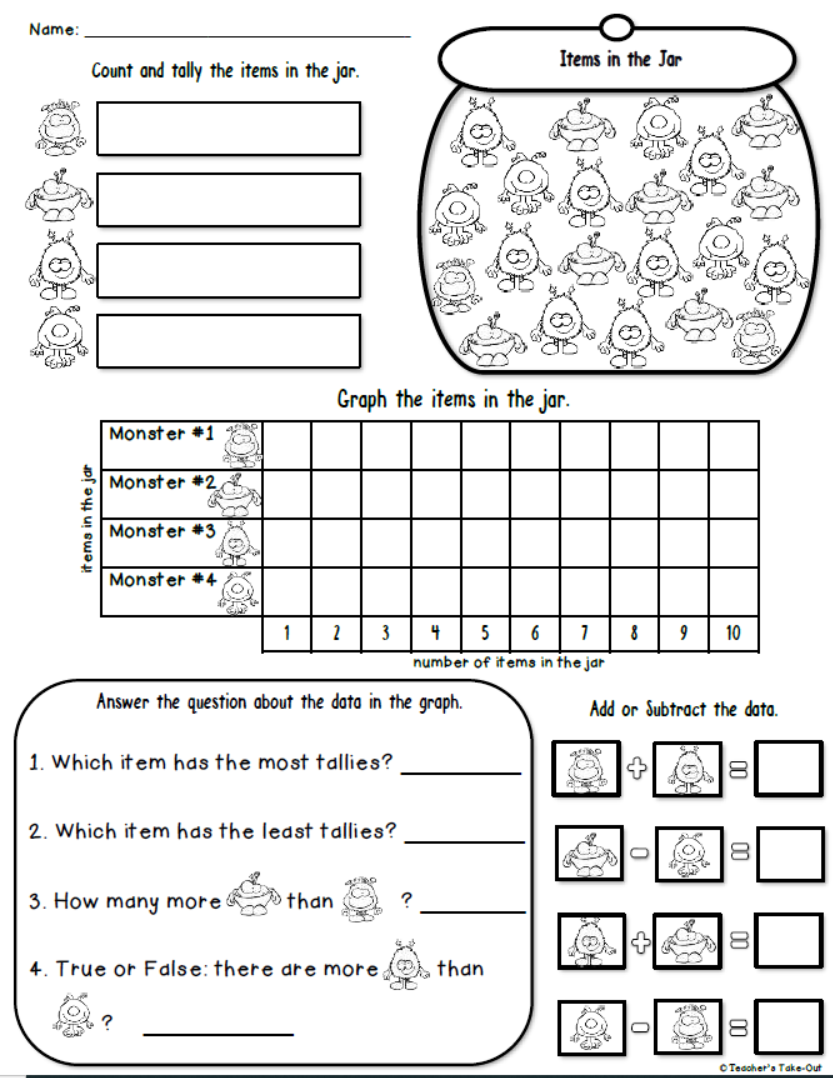Graphing Jars to Count, Tally, and Graph