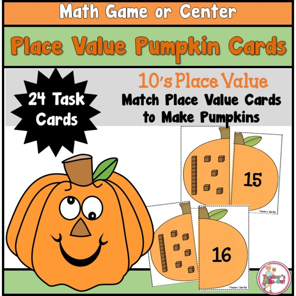 Place Value Pumpkins to 10's Place