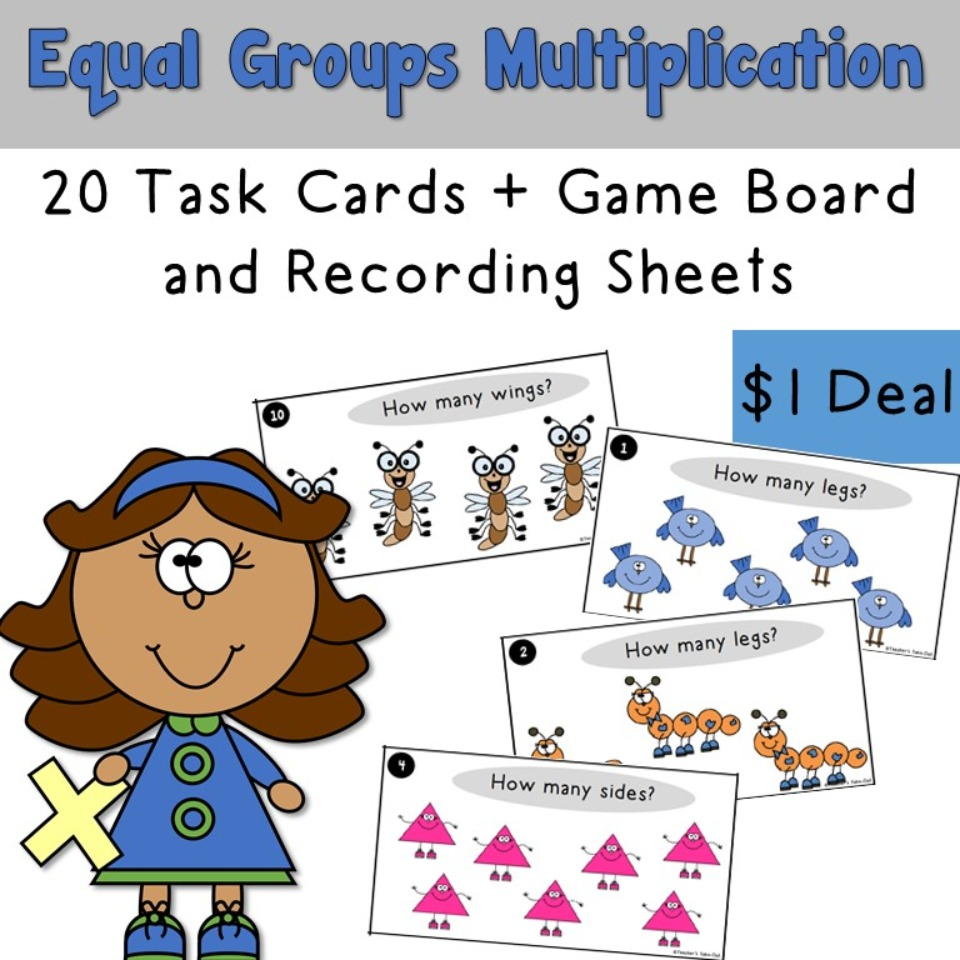 Equal Groups Multiplication Task Cards Dollar Deal
