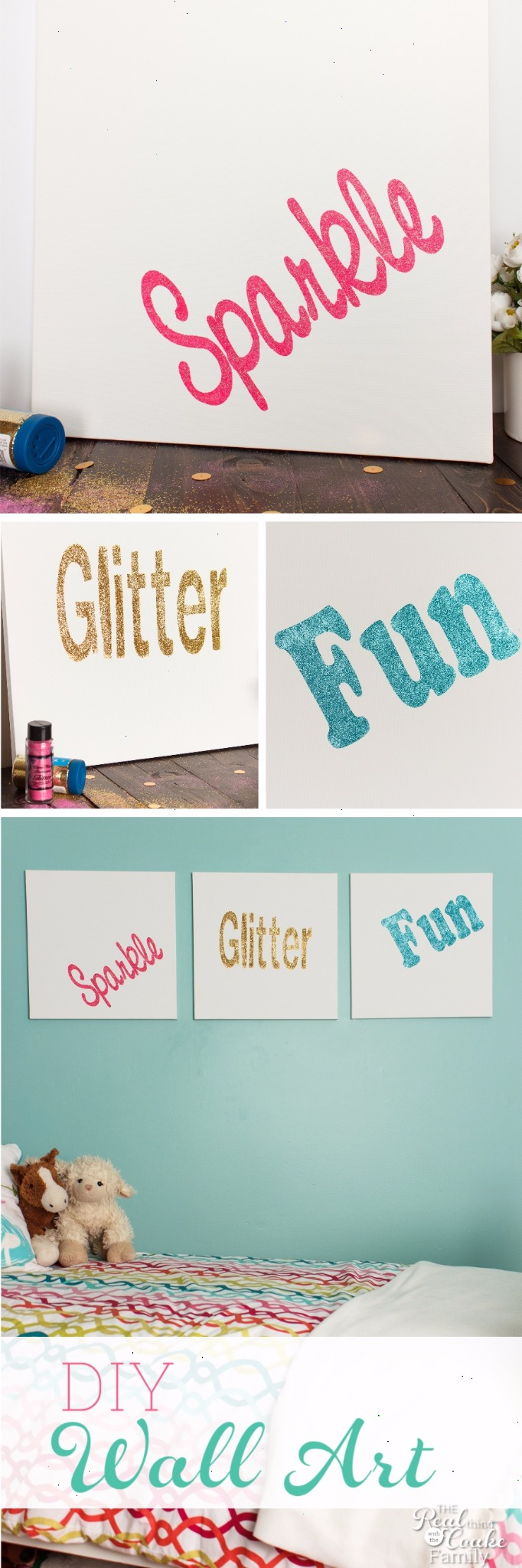 Sparkle, Glitter, Fun DIY Room Decor Step by Step Directions