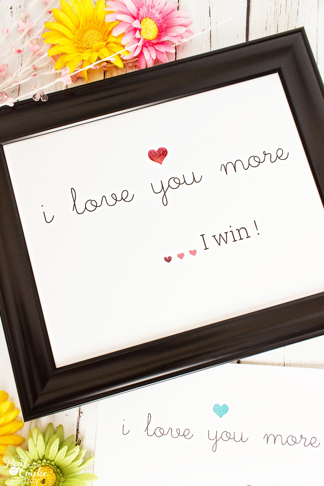 I Love You More, I Win Wall Art Print - Pink