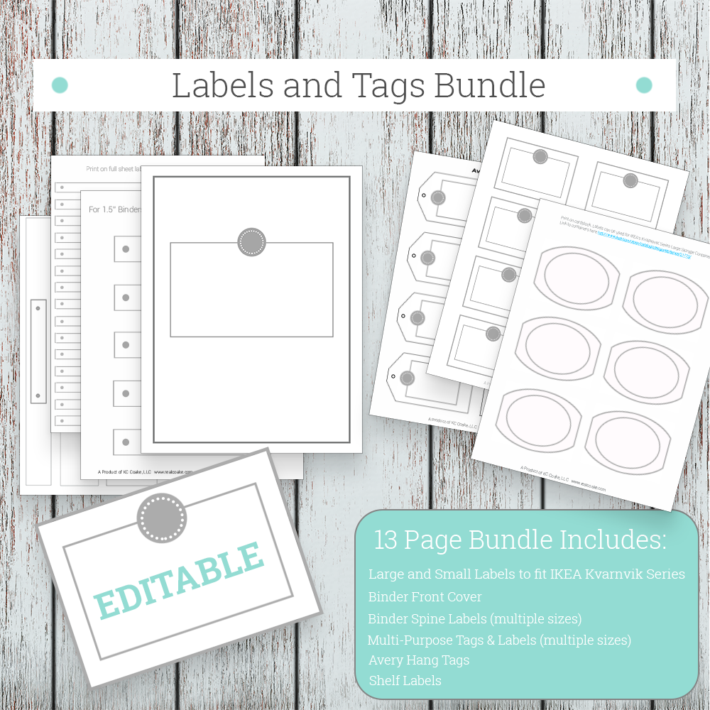 Grey Labels and Tags Bundle