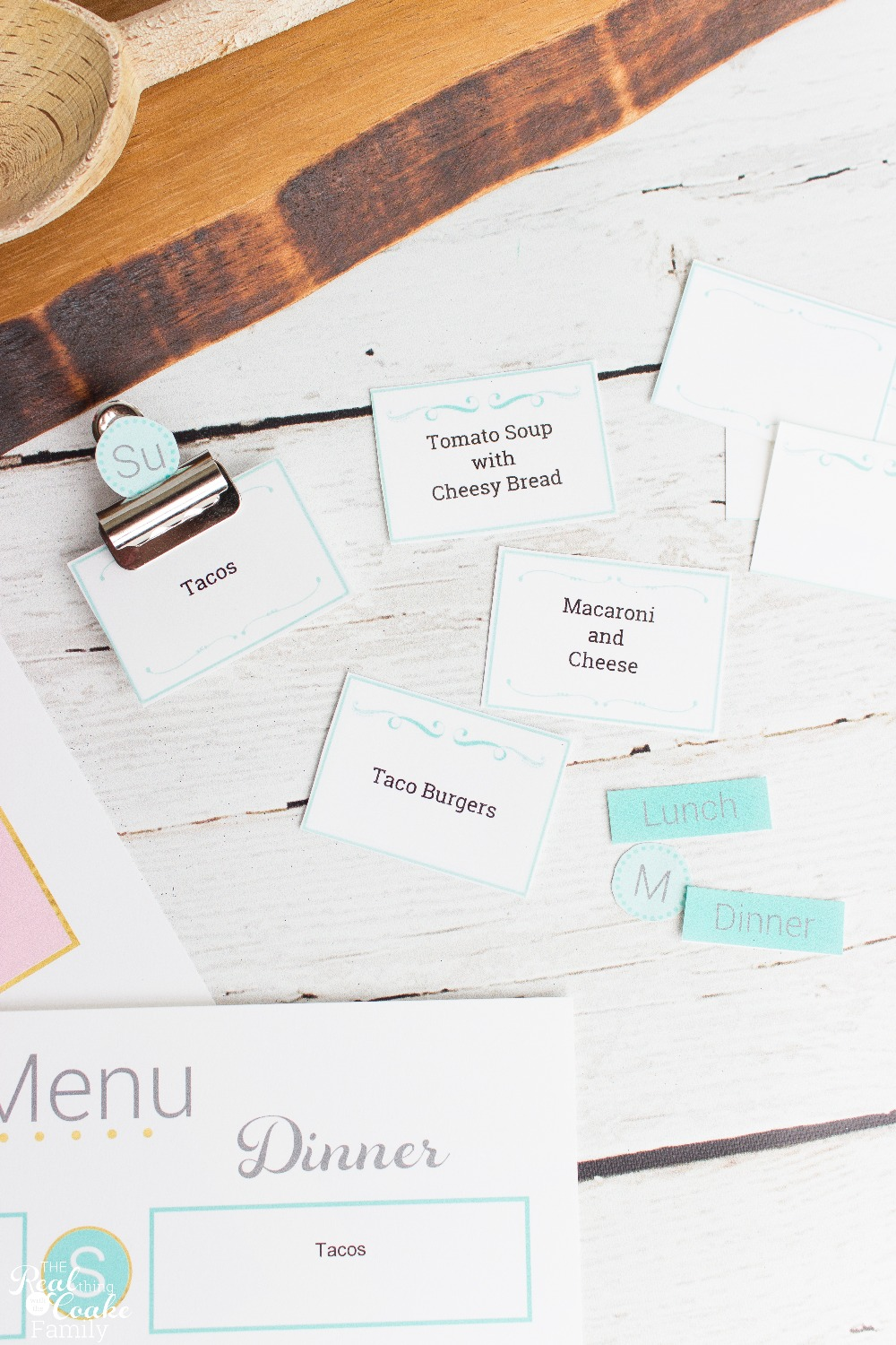 Meal Planning Cards - Blue