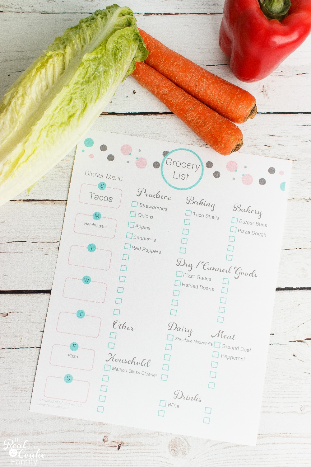 Organized Grocery List with Meal Planning