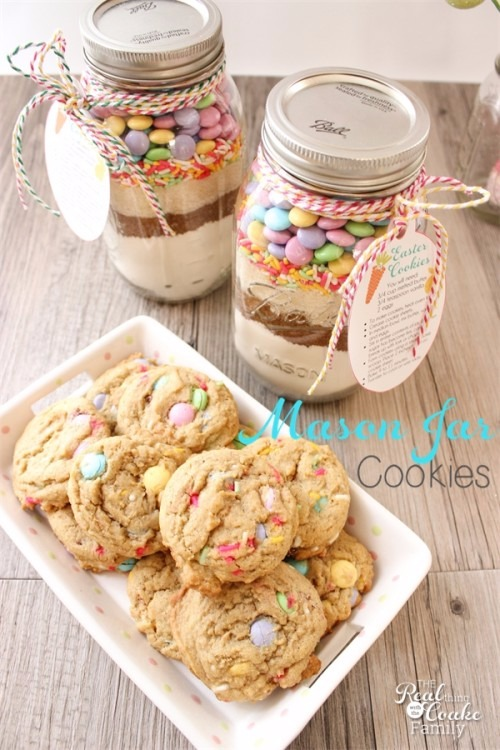 Easter Mason Jar Cookie Recipe and Tags