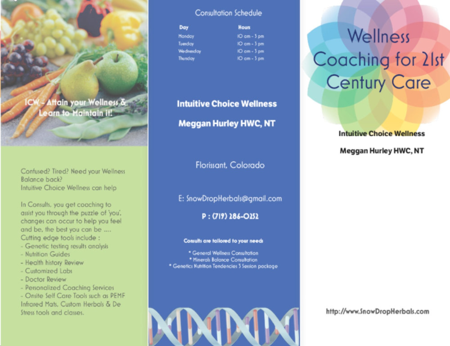 CONSULT Package  ~ Genetic Reports Nutrition & Herbals Coaching