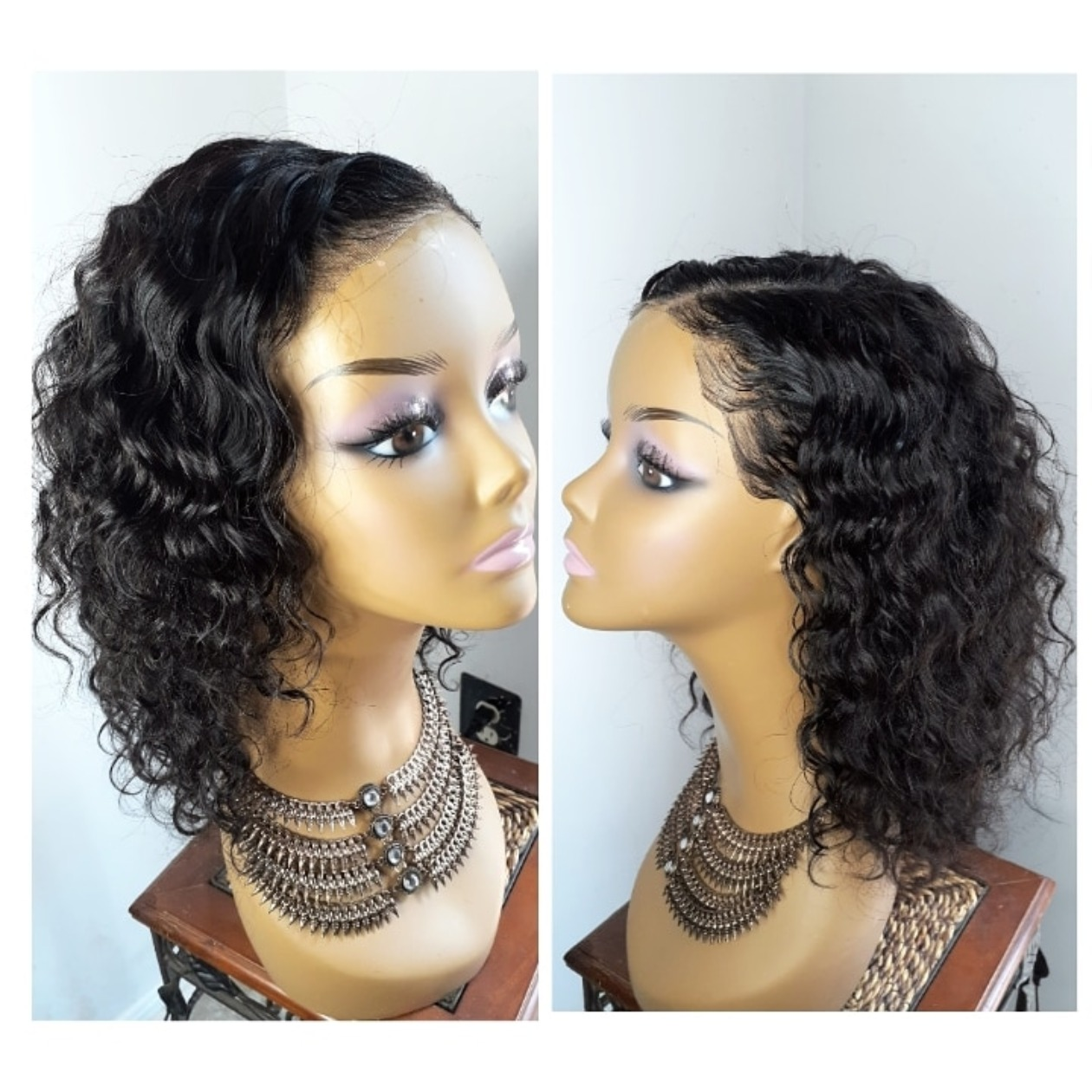 Lace front wig ocean wave
