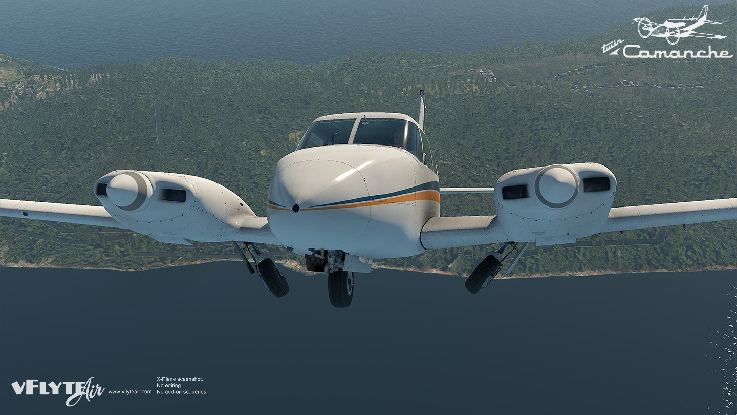 vFlyteAir Piper Twin Comanche for X-Plane 11