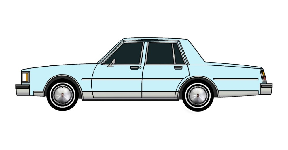 1984 Oldsmobile Delta 88 PALE BLUE