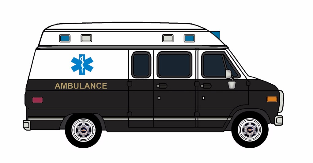 1985-96 Chevy G30 Ambulance WHITE & BLACK