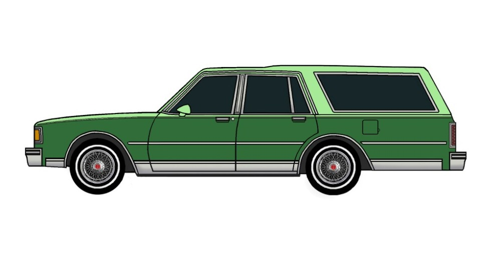 1983 Pontiac Parisienne Safari Wagon SEAFOAM GREEN & EVERGREEN