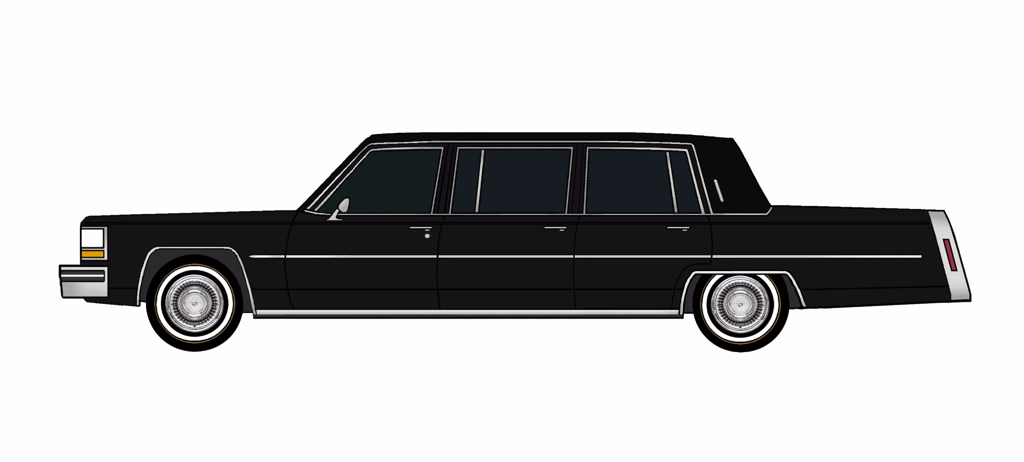 1980 Cadillac Fleetwood Funeral Limo BLACK