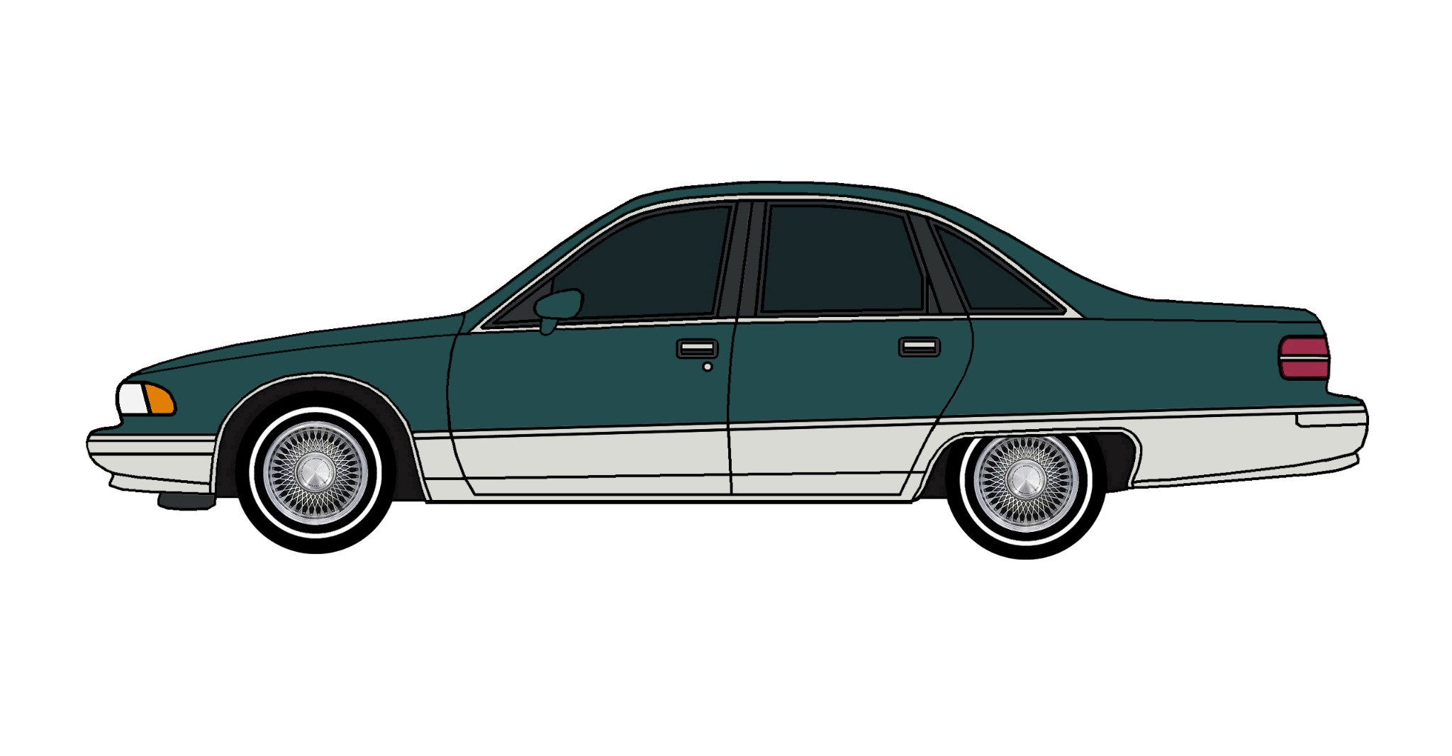 1991 Chevy Caprice TEAL & GREY