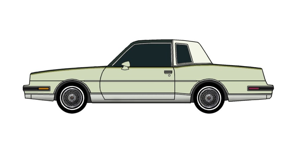 1986 Pontiac Grand Prix DARK EVERGREEN & SAGE GREEN