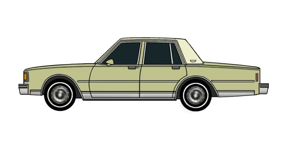 1985 Chevy Caprice Brougham OLIVE GREEN