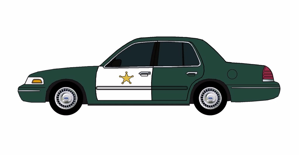 1998 Ford Crown Victoria Police Car HUNTER GREEN