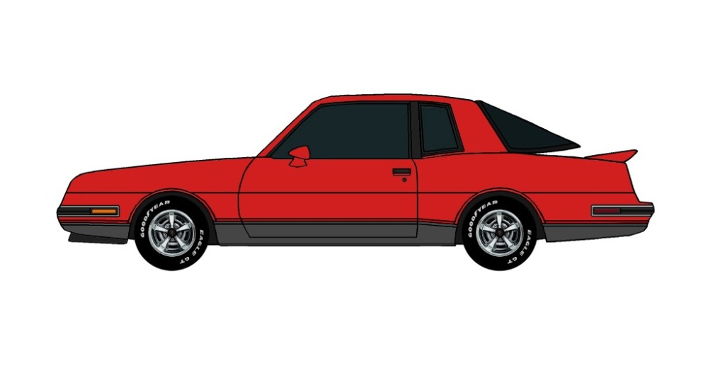 1986 Pontiac Grand Prix 2+2 BRIGHT RED