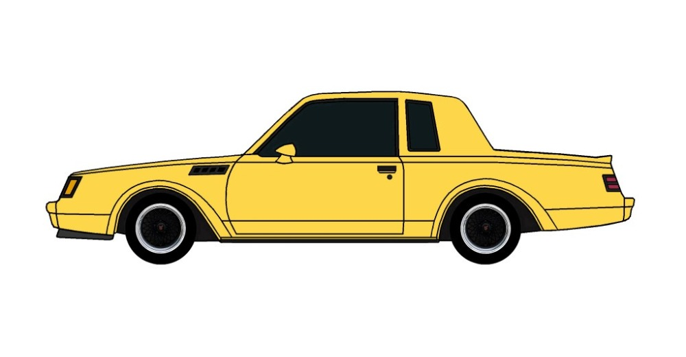 1987 Buick Grand National GNX CANARY YELLOW